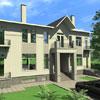 Один дом в двух стилях. В стиле хайтек: Окна М-003, Рамка М-001, Цоколь М-040, Балкон (плита перекрытия) М-013, Шар Ш-001. Тот же фасад в английском стиле: смотрите следующий слайд.