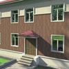 В данном проекте оформления фасада применены следующие архитектурные элементы Регент Декор: углы М-010, наличник 1 этажа М-055, наличник 2 этажа М-055 низ, М-029 верх, цокольный карниз М-029, подкровельный карниз К-030.