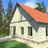 Архитектурные элементы на данном фасаде: Наличник М-008, Подоконник, Сандрик над дверью М-029, Межэтаэный карниз, Подкровельлный М-050, Камень замковый З 300-1, Русты УП-010, УП-011.